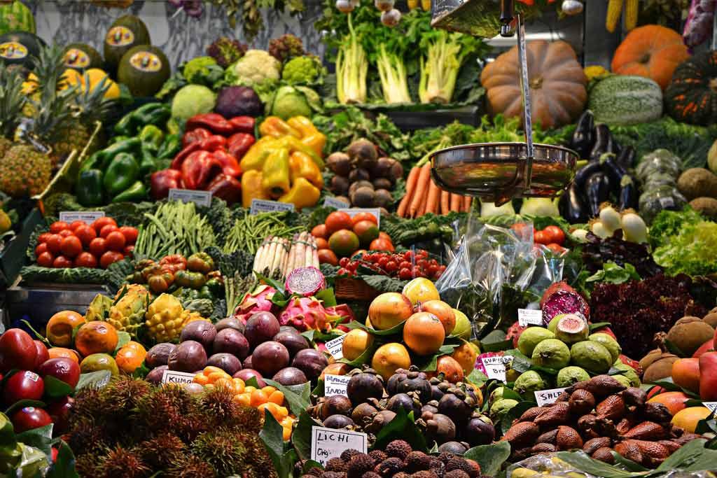 Beautiful assortment of colorful produce.
